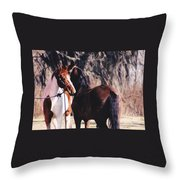 Horse Talk Throw Pillow