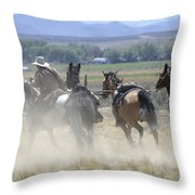 Horse Thief Throw Pillow