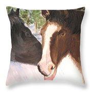 Horse Whisperer Throw Pillow