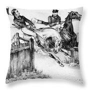 Horseback Riders, C1840 Throw Pillow