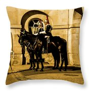 Horseguards Inspection. Throw Pillow