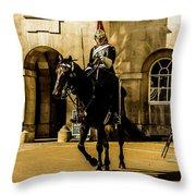 Horseguards. Throw Pillow