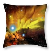 Horsehead Nebula Throw Pillow by Corey Ford