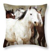 Horses-01 Throw Pillow