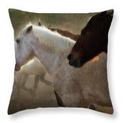 Horses-02 Throw Pillow