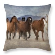 Horses-03 Throw Pillow