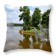 Horses 3 Throw Pillow