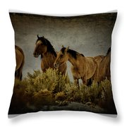 Horses 34 Throw Pillow