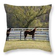 Horses 363 Throw Pillow