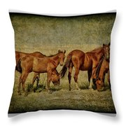 Horses 38 Throw Pillow