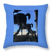 Horses Asses Throw Pillow