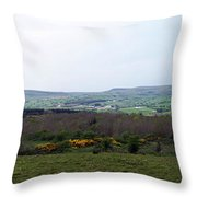 Horses At Lough Arrow County Sligo Ireland Throw Pillow