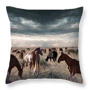 Horses Forever Throw Pillow