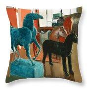 Horses Four Throw Pillow