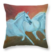 Horses Gone Wild Throw Pillow