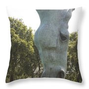 Horses Head At Marble Arch London.  Throw Pillow
