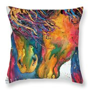 Horses In Love Throw Pillow