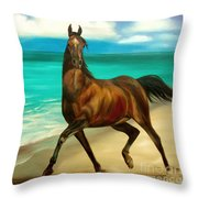 Horses In Paradise  Dance Throw Pillow