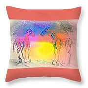 We Are Like The Horses Of Our Dreams And They Like Us  Throw Pillow