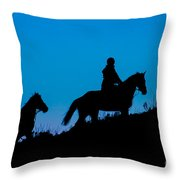Horses On The Mountain Throw Pillow