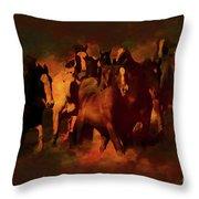 Horses Paintings 34b Throw Pillow