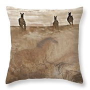 Horses Run With Us Collage Throw Pillow