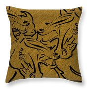 Horses Three Throw Pillow