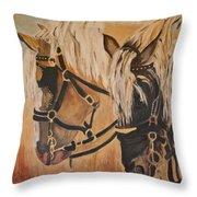 Horseshoe And Dan Throw Pillow