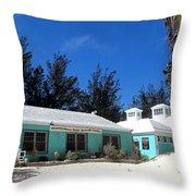 Horseshoe Beach Centre Bermuda Throw Pillow