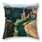 Horseshoe Bend Arizona Colorado River  Throw Pillow