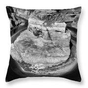 Horseshoe Bend Black White  Throw Pillow