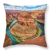 Horseshoe Bend - Colorado River - Arizona Throw Pillow