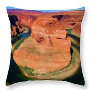 Horseshoe Bend Filters Paint  Throw Pillow