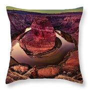 Horseshoe Bend Photo Throw Pillow