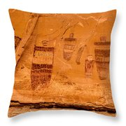 Horseshoe Canyon Great Gallery Group 3 Pictographs Throw Pillow