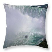 Horseshoe Falls And Maid Of The Mist Throw Pillow