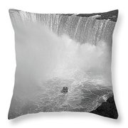 Horseshoe Falls Black And White Throw Pillow