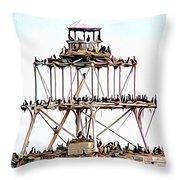 Horseshoe Reef Lighthouse 3 Throw Pillow