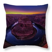 Horseshoe Sunset Throw Pillow