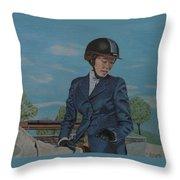 Horseshow Day Throw Pillow