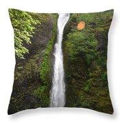 Horsetail Falls Throw Pillow