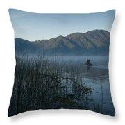 Horsetails On Lake Atitlan Guatemala Throw Pillow