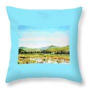 Horsetooth Mountain Throw Pillow