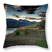 Horsetooth Reservior At Sunset Throw Pillow