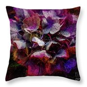 Colorful Hortensia Closeup Throw Pillow