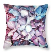Hortensias Throw Pillow