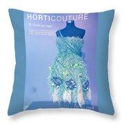 Horticouture Vogue Dress Exhibit Throw Pillow