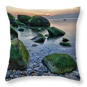 Horton Point Ny At Sunset Throw Pillow