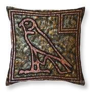 Horus Falcon Throw Pillow