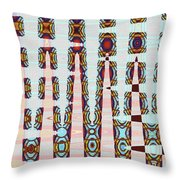 Hosiptal Construction Abstract #2 Throw Pillow